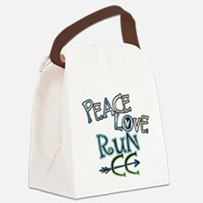 Peace Love Run CC Canvas Lunch Bag