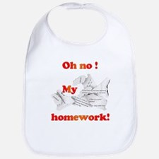 Oh No! My homework! Bib
