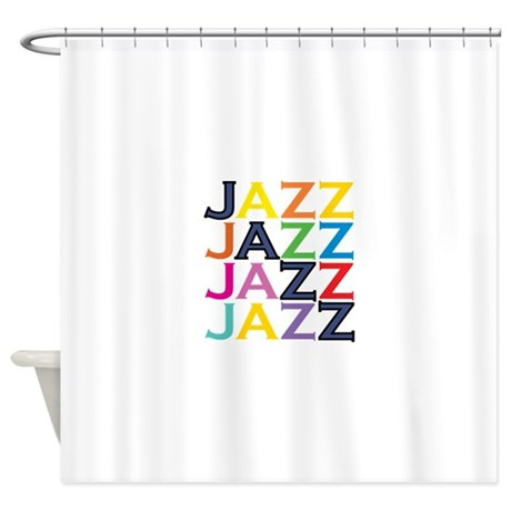 the jazz shower curtain by cerebralsauce