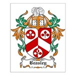 Beasley Coat of Arms Small Poster