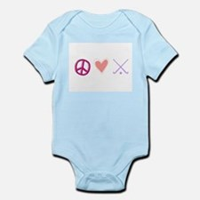 peace love hockey Infant Bodysuit
