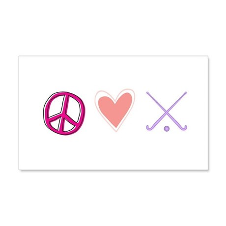 peace love hockey 20x12 Wall Decal