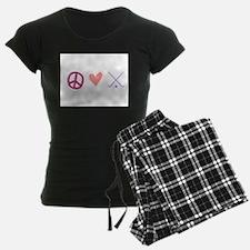 peace love hockey Pajamas