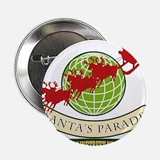 "Santa Claus Christmas Globe Reindeer 2.25"" Button"