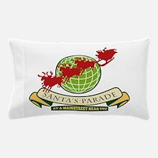 Santa Claus Christmas Globe Reindeer Pillow Case