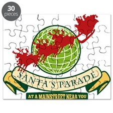 Santa Claus Christmas Globe Reindeer Puzzle