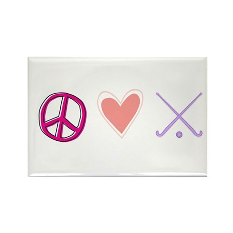 peace love field hockey-page1.jpg Rectangle Magnet