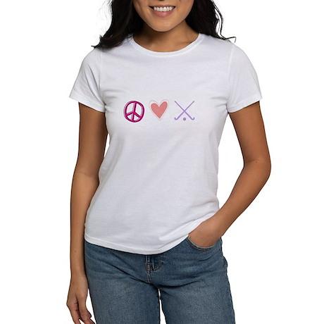 peace love field hockey-page1.jpg Women's T-Shirt