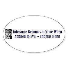 Thomas Mann on Tolerance Oval Decal
