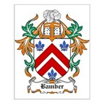 Bamber Coat of Arms Small Poster