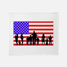 Those Who Serve LT Throw Blanket