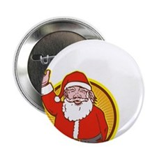 """Santa Claus Father Christmas Cartoon 2.25"""" Button"""