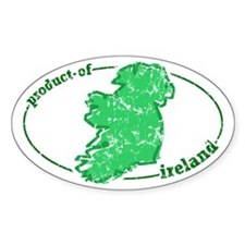 """Product of Ireland"" Oval Decal"