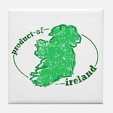 """""""Product of Ireland"""" Tile Coaster"""