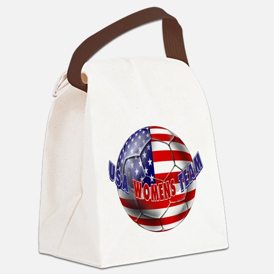 US Womens Soccer Canvas Lunch Bag