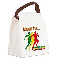 Ethiopia Running Canvas Lunch Bag
