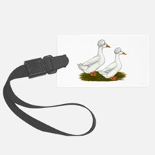 White Crested Ducks Luggage Tag