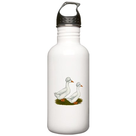 White Crested Ducks Stainless Water Bottle 1.0L