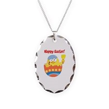 Easter Necklace Oval Charm