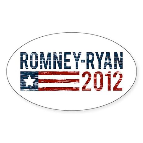 Romney-Ryan 2012 Sticker (Oval)