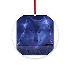 Lightning Wolf Ornament (Round)