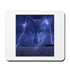 Lightning Wolf Mousepad