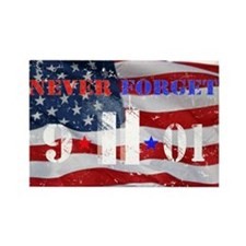 Never Forget 9-11-01 Rectangle Magnet