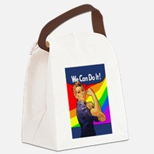 rosie-rainbow_9x12.png Canvas Lunch Bag