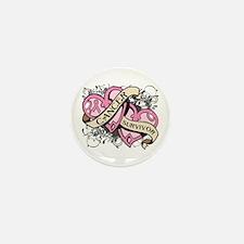 Breast Cancer Survivor Mini Button (10 pack)