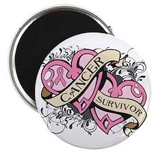 """Breast Cancer Survivor 2.25"""" Magnet (100 pack)"""