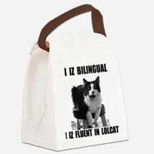 lolcat_bk.png Canvas Lunch Bag