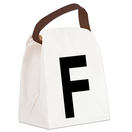 letter-f_black.png Canvas Lunch Bag