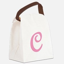 C-pink-initial_tr.png Canvas Lunch Bag