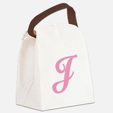 J-pink-initial_tr.png Canvas Lunch Bag