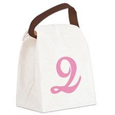 Q-pink-initial_tr.png Canvas Lunch Bag
