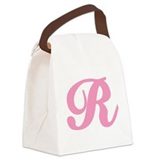 R-pink-initial_tr.png Canvas Lunch Bag
