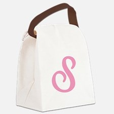 S-pink-initial_tr.png Canvas Lunch Bag