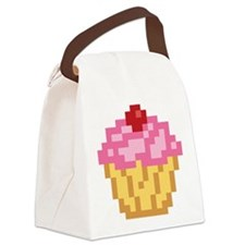 pixel-cupcake.png Canvas Lunch Bag