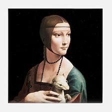 Da Vinci Lady with An Ermine Tile Coaster