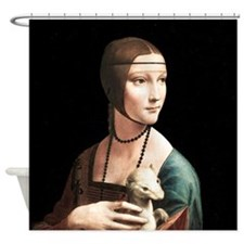 Da Vinci Lady with An Ermine Shower Curtain