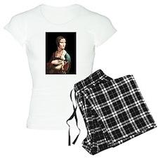 Da Vinci Lady with An Ermine Pajamas