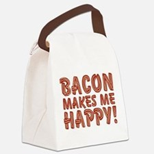 Bacon Makes Me Happy Canvas Lunch Bag