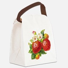 vic-strawberry.png Canvas Lunch Bag