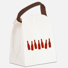 KETCHUP-ROW.png Canvas Lunch Bag