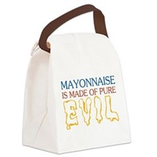 MAYONNAISE-EVIL.png Canvas Lunch Bag