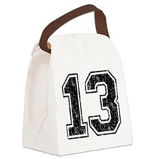 Retro 13 Number Canvas Lunch Bag