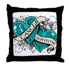 Cervical Cancer Survivor Throw Pillow