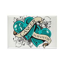 Cervical Cancer Survivor Rectangle Magnet