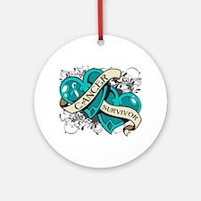 Cervical Cancer Survivor Ornament (Round)