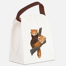 Cute Red panda Canvas Lunch Bag